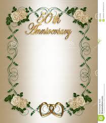 Anniversary Invitation Cards Samples 50th Wedding Anniversary Invitation Stock Photography Image 4246982