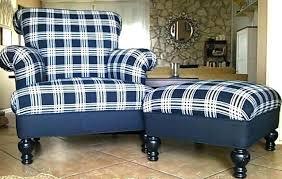 Plaid Ottoman Plaid Chair And Ottoman Intuitivewellness Co