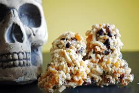 halloween snack ideas fruit and nut crispy treats healthy ideas for kids