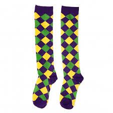 mardi gras socks mardi gras harlequin diamond knee socks sz 9 11 mg11 130