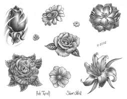 new tulip flower tattoo flash in 2017 real photo pictures