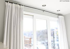 Blackout Curtain Lining Ikea Designs How To Make No Sew Black Out Curtains The Diy Playbook