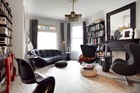retro home interiors retro modern house with black and white interior palette