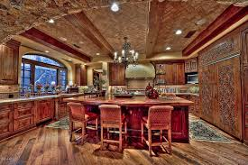 Tuscan Inspired Kitchen Would You Look At That Fridge Kitchens Pinterest Dream