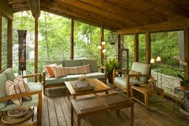 covered porch private yet open air back porch idea furniture ideas trends with
