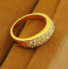 top gold rings images Women crystal jewelry simple engagement rings top quality 24 k jpg