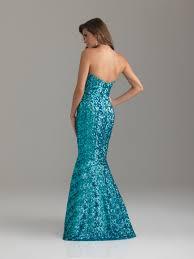fuchsia mermaid sweetheart full length zipper sequined prom