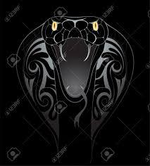 black backdrop silver snake tattoo shape on black backdrop royalty free cliparts