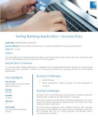 success story testing banking application