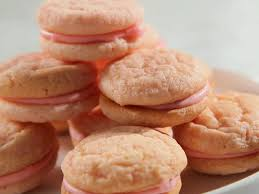 mini strawberry sugar cookie sandwich with strawberry cream recipe