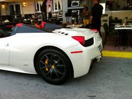 Ferrari 458 Italia Spider - white ferrari 458 italia spider on south beach exotic cars on