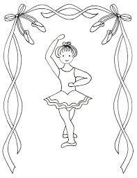 ballerina coloring pages childrens printable print kids