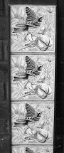 victorian style bird grey 08 fireplace tiles set victorian birds