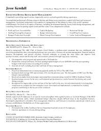Hospitality Objective Resume Chef Resume How To Write An Objective For A Restaurant Execut