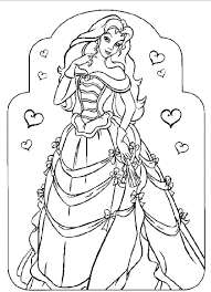 unique princess coloring pages gallery 6307 unknown