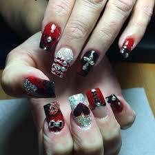 27 black and red nail art designs design trends premium psd