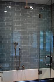 bathroom glass tile ideas glass tile bathroom on large glass subway tile shower