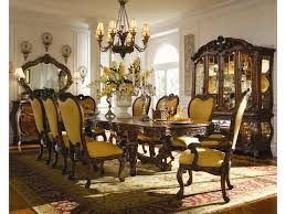 Dining Room Set With China Cabinet by Michael Amini Palais Royale China Cabinet With Beveled Glass Doors