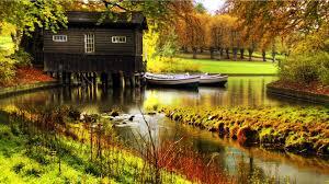 nature floating home scenery water desktop background wallpaper