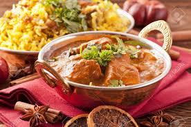 biryani indian cuisine indian meal with curry and biryani stock photo picture and royalty