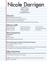 Resume Example Format by Resume Template After First Job
