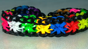 bracelet made from rubber bands images Rainbow loom starburst bracelet with two forks very easy jpg