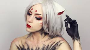 kitsune inspired anime makeup pale canvas youtube