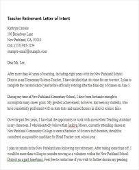 retirement letter for teachers teacher retirement letter of