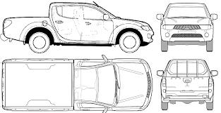2006 mitsubishi l200 double cub suv blueprints free outlines