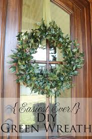 easiest ever diy green wreath less than perfect life of bliss