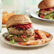 apple turkey recipes thanksgiving turkey burgers with cranberry apple relish recipe myrecipes