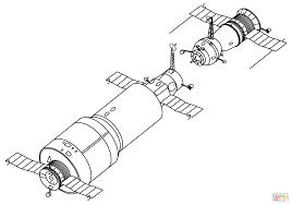 spaceships docking coloring page free printable coloring pages