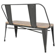 Sister Company Of Bench Oregon Industrial Dining Entryway Bench With Gray Frame And Brown