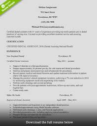 Resume Sample For Internship by How To Build A Great Dental Assistant Resume Examples Included