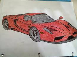 ferrari drawing ferrari enzo by iceman 623 on deviantart