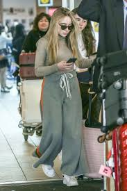 sabrina carpenter u2013 arriving at airport in vancouver celebs by