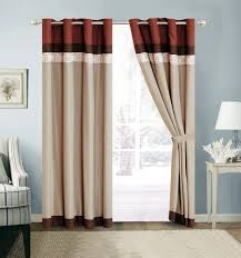 Orange And Brown Curtains Orange Tier Curtains Curtains Sears