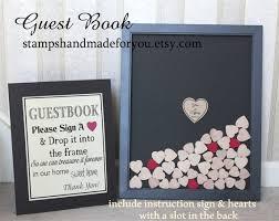 wedding guest book picture frame wedding guest book alternative heart drop drop box guest book