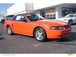 orange mustang convertible 2004 competition orange ford mustang v6 convertible 71383718