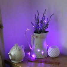purple fairy lights for bedroom with battery operated pink