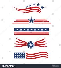 Star Flags Usa Star Flag Design Elements Vector Stock Vector 140980315