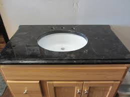 bathroom cozy black granite countertop with lowes sinks for small