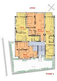 Floor Plan Of An Apartment Floor Plan Of Residential Buildings By Arcitect Imanada Bulgarian