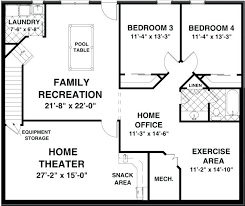 ranch floor plans with basement lower floor plan of ranch house plan 92395 ranch home plans with