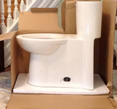 our concealed trapway skirted one piece toilet so happy with ameri