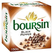 boursin cuisine boursin cheese with black pepper 150g from ocado
