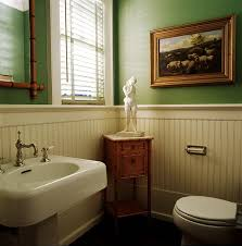 Wood Bathroom Ideas White Wood Wall Paneled Bathroom Ideas Quecasita