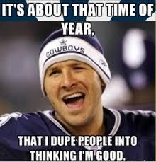 Funny Tony Romo Memes - redskins end cowboys 6 game streak 20 17 in ot tony romo tony