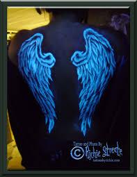 amazing black light tattoos design light angel tattoo