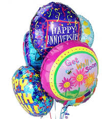 balloon bouquet 6 mylar balloons send the joyful gift of